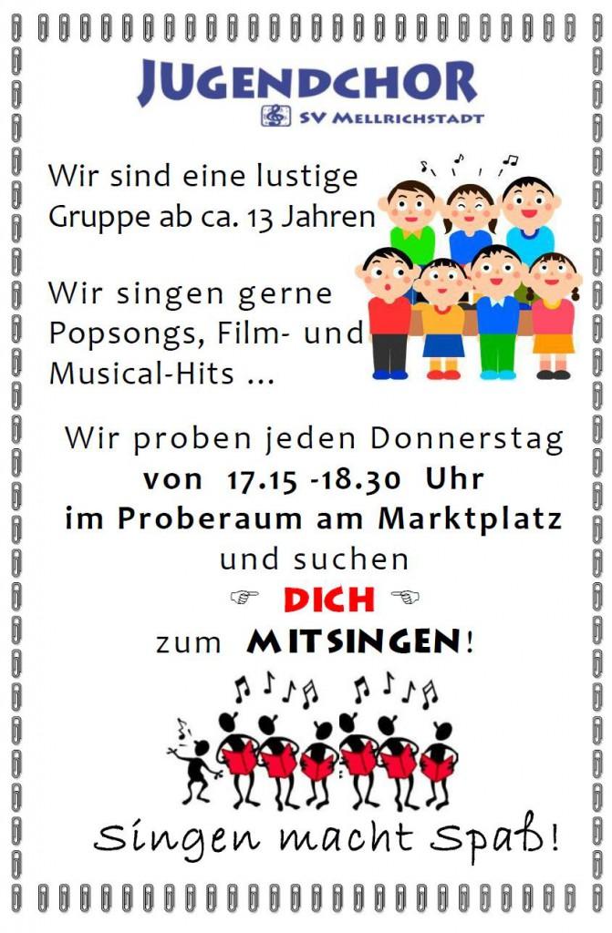 Werbeflyer Jugendchor